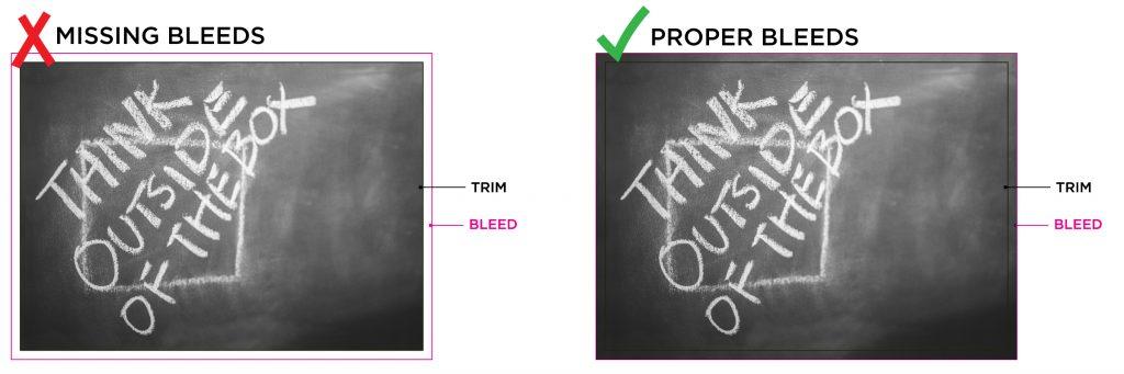 Bleed Vs No Bleed Examaple
